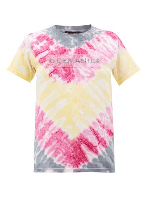 GERMANIER recycled crystal-logo tie-dyed cotton t-shirt