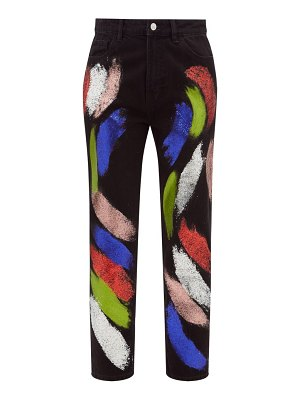 GERMANIER recycled glitter-paint straight-leg jeans