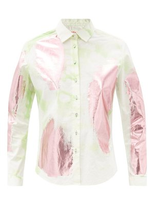 GERMANIER hand-painted tie-dye cotton-blend shirt