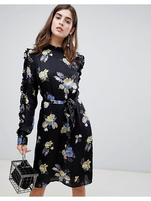 Gestuz aia floral tie waist dress
