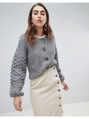 Gestuz cable knit crop cardigan