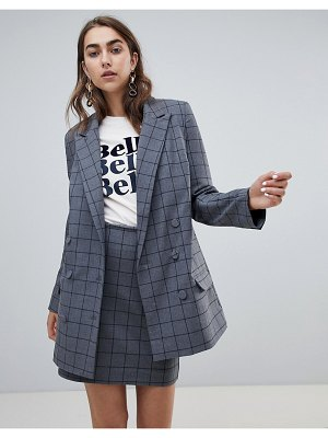 Gestuz check gray blazer