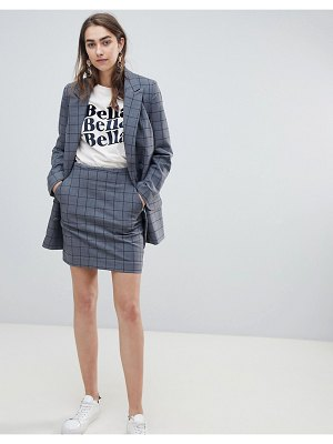 Gestuz check gray skirt