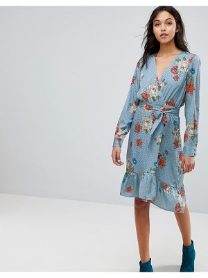 Gestuz Floral Printed Wrap Dress