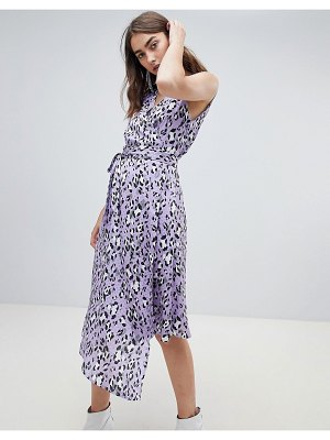 Gestuz leopard wrap dress