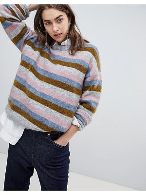 Gestuz multi color stripe sweater