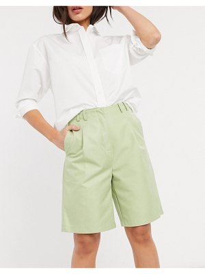 Ghospell relaxed dad shorts in green two-piece