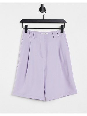 Ghospell tailored bermuda shorts in lilac set-purple