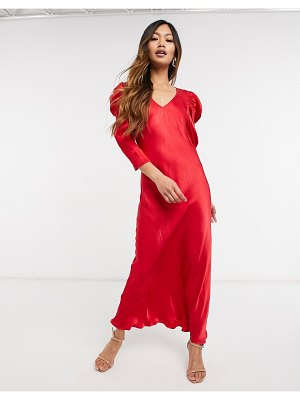 Ghost abby dress in red-pink