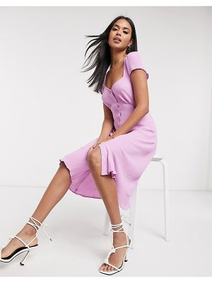 Ghost leona button dress in pink