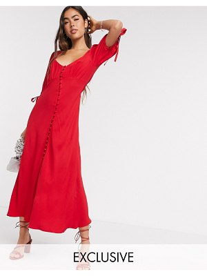 Ghost logan dress in red