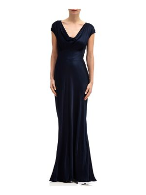 GHOST LONDON fern cowl neck gown