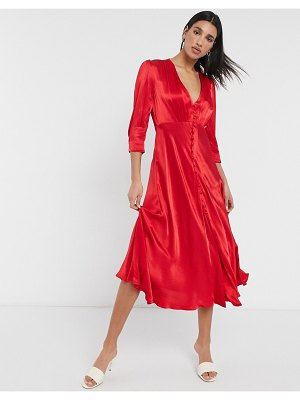 Ghost madison button dress in red