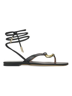 GIA COUTURE 10mm levante leather thong sandals