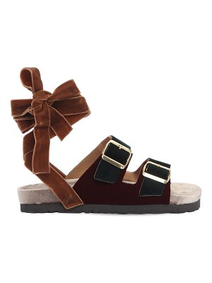 GIA COUTURE 30mm velvet lace-up sandals