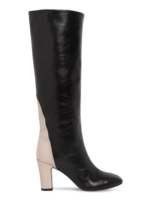 GIA COUTURE 80mm portorico leather tall boots