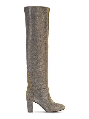 GIA COUTURE 80mm vadena glitter fabric boots