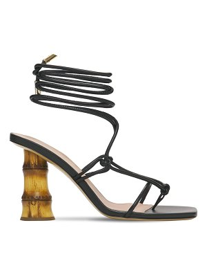 GIA COUTURE 90mm eolo leather thong sandals