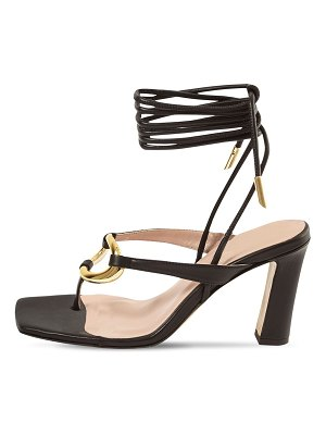 GIA COUTURE 95mm levante bis leather thong sandals
