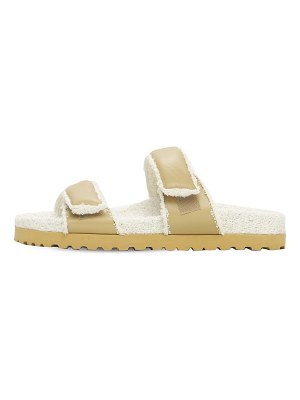 GIA X PERNILLE TEISBAEK 20mm leather & terry cloth sandals