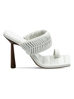 GIA X RHW 100mm rosie 1 woven leather thong sandal