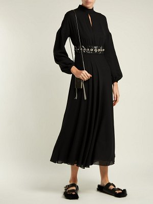 Giambattista Valli bead embellished wool blend maxi dress