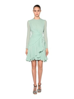 Giambattista Valli Draped silk georgette dress
