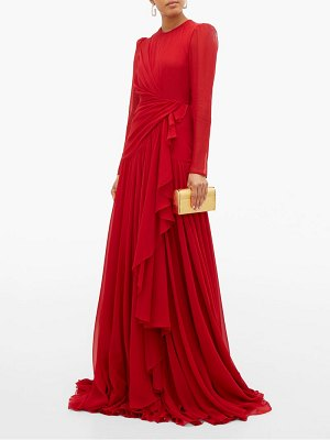 Giambattista Valli draped silk georgette gown