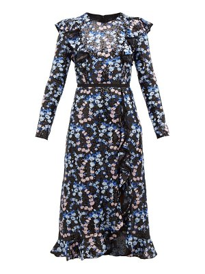 Giambattista Valli floral embroidered and sequinned midi dress