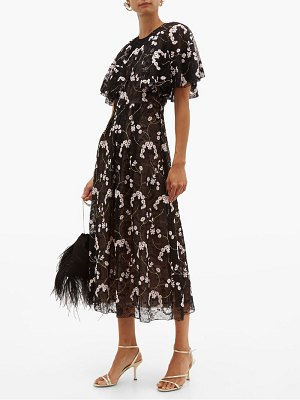 Giambattista Valli floral embroidered chantilly lace dress
