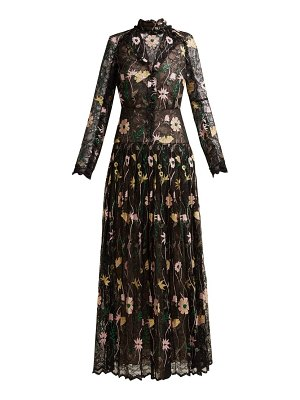 Giambattista Valli floral embroidered chantilly lace gown