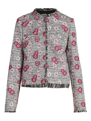 Giambattista Valli floral-embroidered tweed jacket