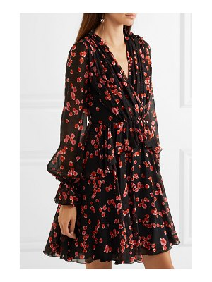 Giambattista Valli floral-print silk-georgette mini dress
