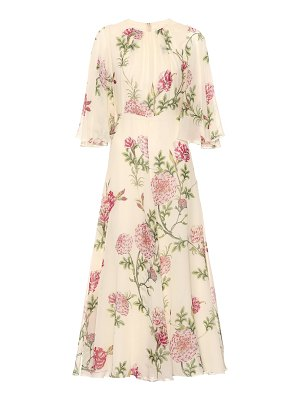 Giambattista Valli floral silk-chiffon midi dress
