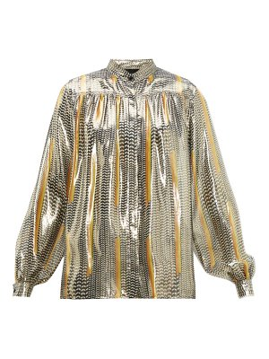 Giambattista Valli geometric-print silk-blend blouse