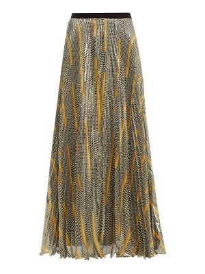 Giambattista Valli knife pleat silk blend maxi skirt