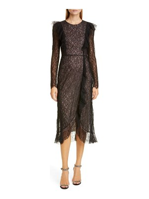 Giambattista Valli long sleeve lace cocktail dress