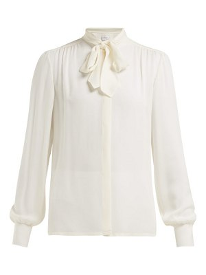 Giambattista Valli Neck Tie Silk Crepe De Chine Blouse