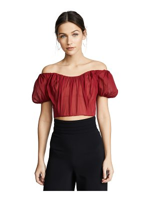 Giambattista Valli ots crop top