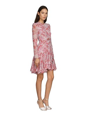 Giambattista Valli Printed silk blend georgette mini dress
