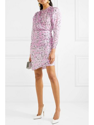 Giambattista Valli ruched floral-print silk-chiffon mini dress