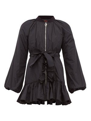 Giambattista Valli ruffle trim down padded bomber jacket