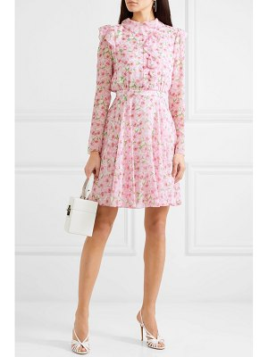 Giambattista Valli ruffled floral-print silk-georgette mini dress