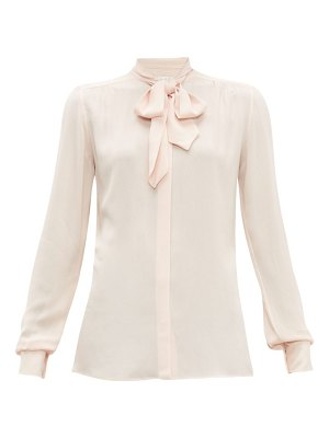 Giambattista Valli tie neck crepe blouse