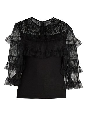 Giambattista Valli tulle cashmere & silk sweater