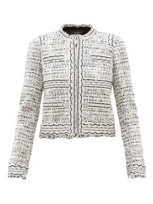 Giambattista Valli tulle-trimmed cotton-blend bouclé jacket