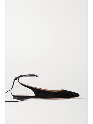 Gianvito Rossi 10 suede point-toe flats