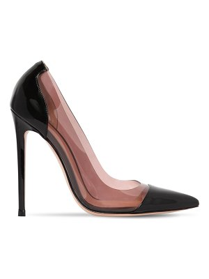 Gianvito Rossi 110mm plexi patent leather pumps