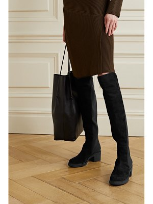 Gianvito Rossi 45 suede and neoprene knee boots