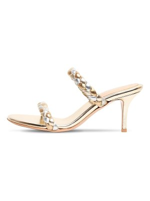 Gianvito Rossi 70mm metallic leather sandals